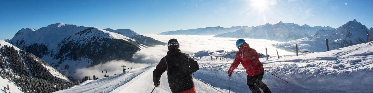Skifahren bei traumhaften Wetter