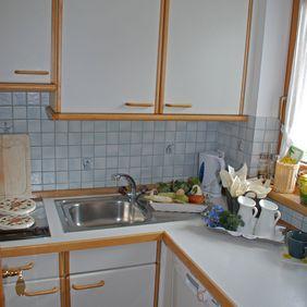Küche im Appartement Seeblick