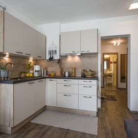 Küche im Appartement Landleben