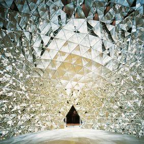 Kristalldom in den Swarovski Kristallwelten, Blick vom Raum Richtung Ausgang