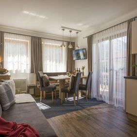 Wohnzimmer im Appartement Landleben